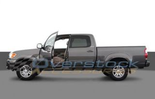 "2004 2006 Toyota Tundra Double Cab 3"" Stainless Steel Side Rail Step Nerf Bars"