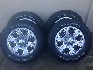 "2014 Dodge RAM Megacab 20"" 8 Lug Factory Stock Alloy Wheels Firestone Tires"