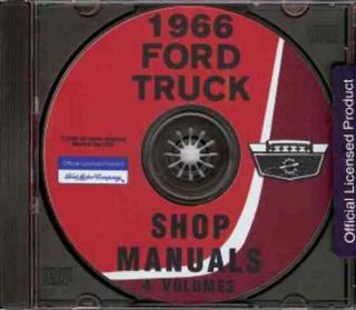 1966 Ford Pickup Truck Repair Shop Service Manual CD F100 F250 F350