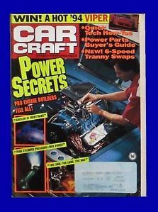 Car Craft Jan 1994 1955 Chevy 1965 Chevelle Dodge Viper January Hot Rod Magazine