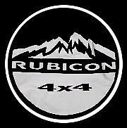"Jeep Wrangler 17"" Spare Tire Cover Black Denim w Rubicon Logo 82209954AB"