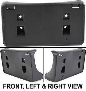 Black New License Plate Bracket Front Dodge RAM 1500 Truck CH1068110 55077158AE