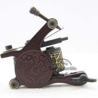 Pro Dragon Style Tattoo Machine Gun Shader 10 Wrap Coils Supplies