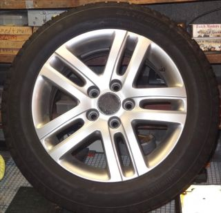"2006 2010 VW Jetta 16"" Alloy Wheel Rim and Snow Tires 205 55 R16"