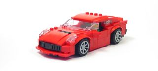 Lego Custom Red C7 Corvette City Town Racers 60007 60008 10218 3648