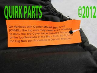 2013 Jeep Wrangler Sahara Spare Tire Cover Mopar Genuine Brand New