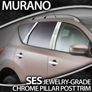 2009 13 Nissan Murano 8PC Ses Chrome Pillar Post Trim