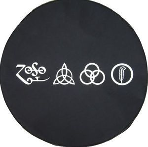 "Sparecover® Brawny Series LED Zeppelin Runes 27"" Denim Tire Cover Honda Suzuki"