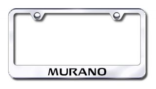 Nissan Murano Logo Bright Mirror Chrome License Plate Frame Tag