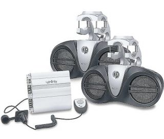 Infinity 6100M Marine Boat Wakeboard Sound System Amplifier and 2 Speakers