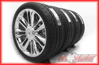 "New 24"" Cadillac Escalade Platinum Sport Chrome Wheels Pirelli Tires 20 22 26"
