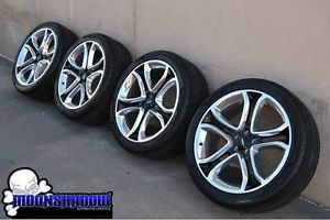 "22"" Ford Edge Sport Factory Wheels Rims Polished Black Pirelli Tires"
