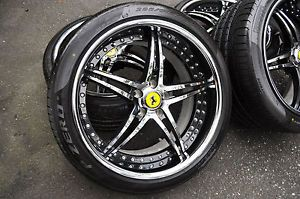 Savini Forged bs1 20 inch Staggerd Ferrari California Rims Pirelli Tires 5 114