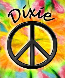 Peace Sign Tie Dye Decals Bumper Stickers Hippie Gifts Girls Ladies Personalize
