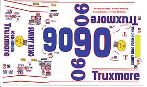 90 Sonny Hutchins Truxmore 1966 67 Ford 1 64th Scale Slot Car Decals