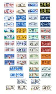 1 25 Scale Model Canada Car License Plates Assorted Canadian Tags