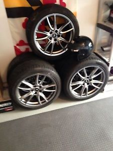 Brembo Mustang Track Pack Wheels with 4 Pirelli Tires 2011 2013 GT