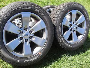 "4 New 2014 20"" Ford F150 FX2 Argent Wheels Tires FX4 Lariat Expedition"