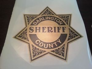 Vintage Syle 4 Replica Police Sheriff Car Decals Door Shield Add Your Town Name