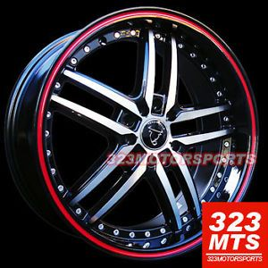 "17"" Toro TR9005 Wheels Rims Honda Subaru Ford Nissan Acura Wheels"