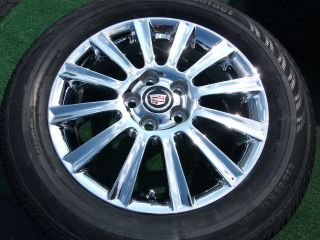 4 New Factory GM Chrome Cadillac Wheels Tires DTS cts SLS Eldorado DeVille