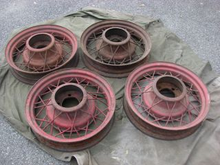 "1935 36 Ford V8 17 "" Wire Spoke Wheels Vintage Rims This Is for 4 Rims"