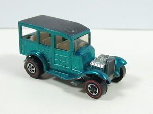 Hot Wheels Redline Classic 31 Ford Woody 1968 Aqua Nice