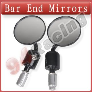 Universal Handlebar Bar End Side Mirrors for Honda Yamaha Suzuki Kawasaki 22mm