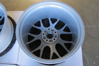 "20"" BMW E39 M5 BBs CH R Chr Concave Staggered Silver Wheels Rims"