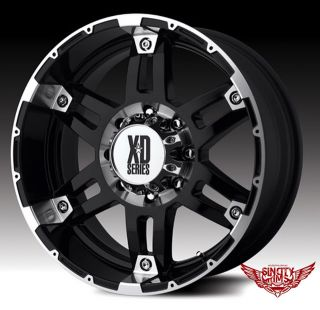 "X4 XD KMC Spy 20"" Black Alloys Rims Wheels Hilux Ranger Triton Dmax Colorado 4x4"