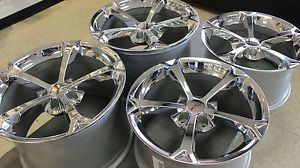 New GM Chrome Grand Sport Corvette Wheels Rims 2006 2013 C6 Z06 ZO6 Size LS3