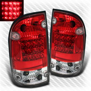 2001 2004 Toyota Tacoma Red Clear LED Tail Lights Lamps Brand New Left Right Set