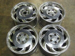 "1984 1996 Chevrolet Corvette C4 17"" Chrome Rims Wheels Staggered Set of Four"