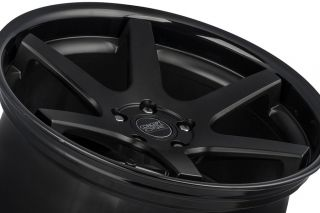 "20"" Nissan Maxima Concept One CS6 6 0 Concave Black Staggered Wheels Rims"