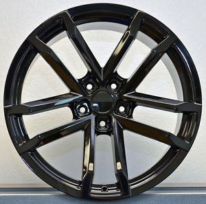 20x10 20x11 Set 4 Gloss Black Style 41 ZL1 Fits All 2010 Up Camaro Wheels Rims