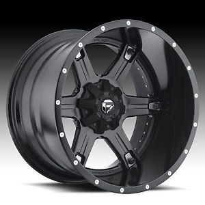 "20"" Fuel Offroad Driller 2pc Wheel Set Black 20x12 Rims Ford Chevy Dodge Wheels"