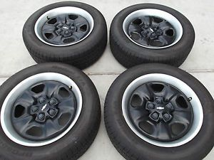 "18"" 2010 2013 Chevy Camaro Black Steel Wheels Tires Rims BFGoodrich 5527"