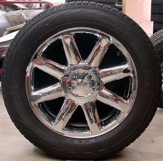 "New GMC Denali Yukon XL Sierra Chrome 20"" Wheels Rims Bridgestone Tires Chevy"