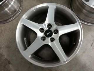 2003 2004 Mustang Cobra Satin Machined Ford Wheels 17x9 Rims 94 04 Set of 4