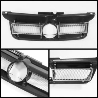 99 05 Volkswagen Jetta Crystal Headlights Chrome Front Grille Black Combo Set