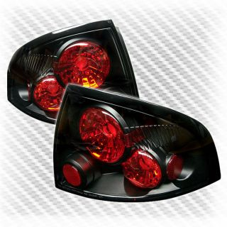 2000 2003 Nissan Sentra altezza Black Tail Lights Rear Brake Lamp Pair New Set