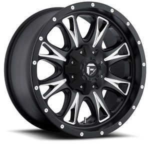 "18"" 20 Fuel Throttle Black Wheels Rims 8x6 5 8 Lug Chevy GM Dodge HD Truck"