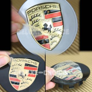 4 Pcs Porsche Silver Car Wheel Rim Center Centre Logo Caps Hub Emblem Badge 77mm