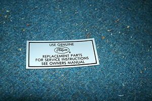 1959 1964 Mercury and Lincoln Cars Use Genuine Ford Parts Air Cleaner Decal