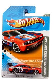 2012 Hot Wheels HW Code Cars 229 Dodge Challenger Drift Car