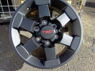 "2007 2014 Toyota FJ Cruiser New Factory TRD 16"" Alloy Black Trail Team Wheel"