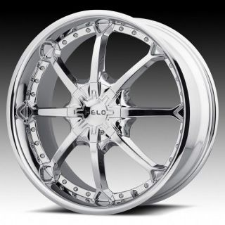 26 inch Helo Chrome Wheel Rims 6x135 Ford F150 Expedition Navigator 6 Lug