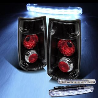 LED Bumper Fog 91 97 Isuzu Rodeo 89 94 Isuzu Amigo Black Tail Lights Rear Lamp