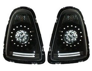 Mini Cooper R56 R57 Black Replacement LED Tail Lights