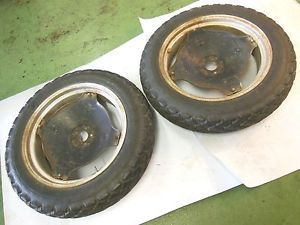 Economy Powerking 2418 Tractor Rear Wheel Rim Tire Pair Set 8 3 24 Goodshape